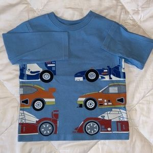Baby Gap Blue Race Car Long Sleeve Tee Shirt 2T